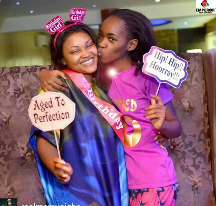 See beautiful photo of mercy aigbe and her daughter as she marks her 40th birthday….. Please wish her well #etiketa…..