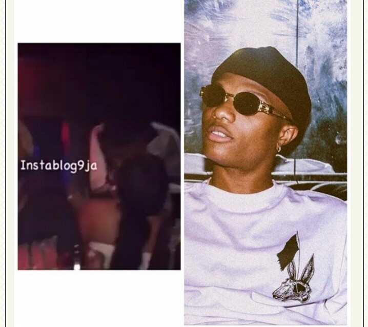 "Nigerian singer ""wizkid"" who already has a three baby mamas was seen inside the club, locking lips with a mysterious lady."