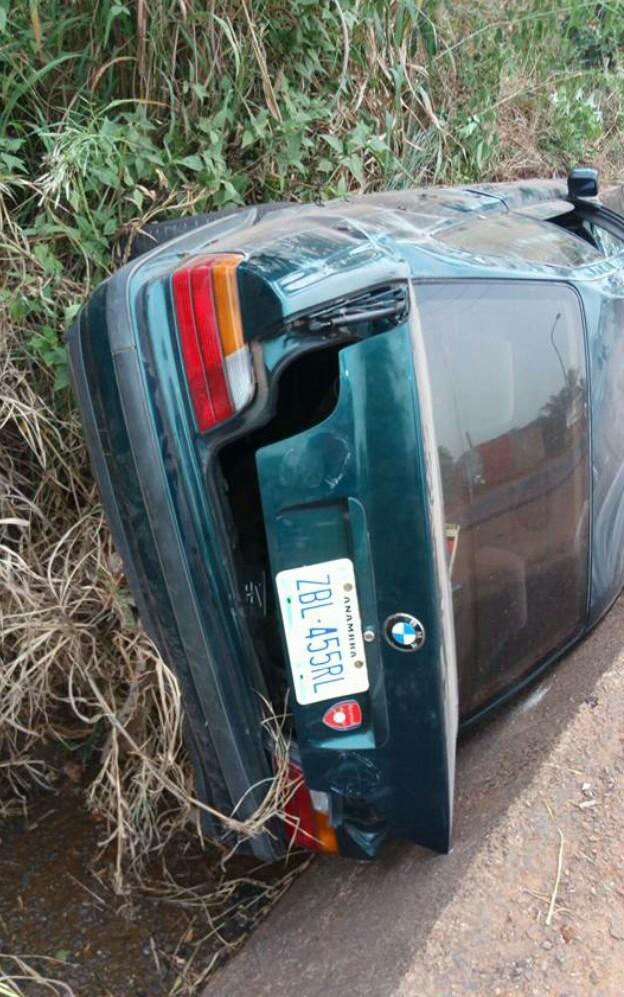 A Nigerian lady was grateful after surviving a fatal accident on new year day