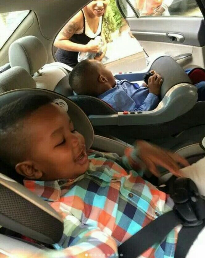 Tonto Dikeh Gets Emotional As Her Son Resumes At School, Says She Will Miss Having Him All The Time.