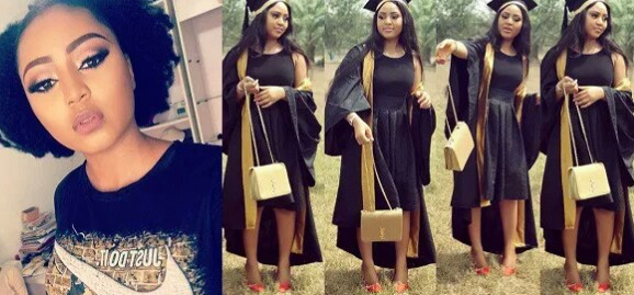Regina Daniels Shares Photo From Her Matriculation at Igbinedon University today