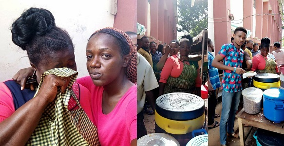 Popular Food vendor accused of using mortuary water to cook at Oko Polytechnic, Burst into tears (Photos)