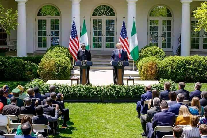 PRESS STATEMENT BY MR. PRESIDENT AT THE PRESS CONFERENCE IN THE WHITE HOUSE ROSE GARDEN, DURING HIS VISIT TO THE UNITED STATES.