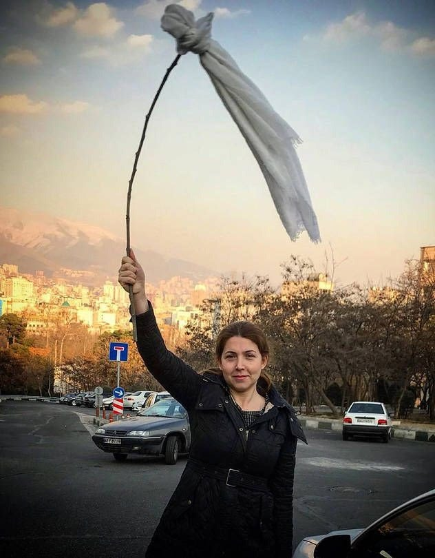 An Iranian Woman was sentenced to 20 years in prison for removing her hijab