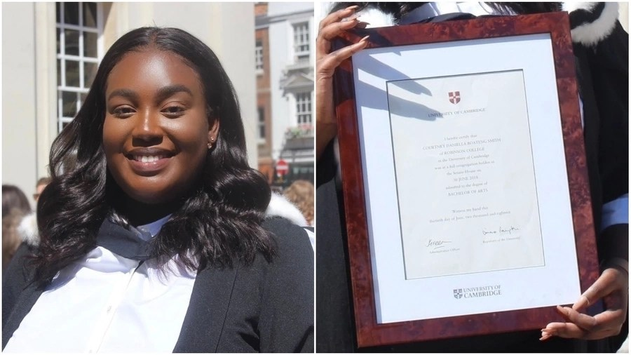 Lady who tried to take her life over admission celebrates her graduation from Cambridge