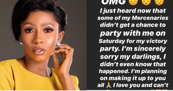 Mercy sends an official apology letter to fans who were denied access to her victory party