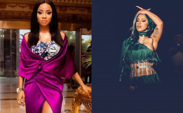 Toke Makinwa tackles Nigerians complimenting Cardi B for being 'real' and slamming Nigerian celebrities for living same life