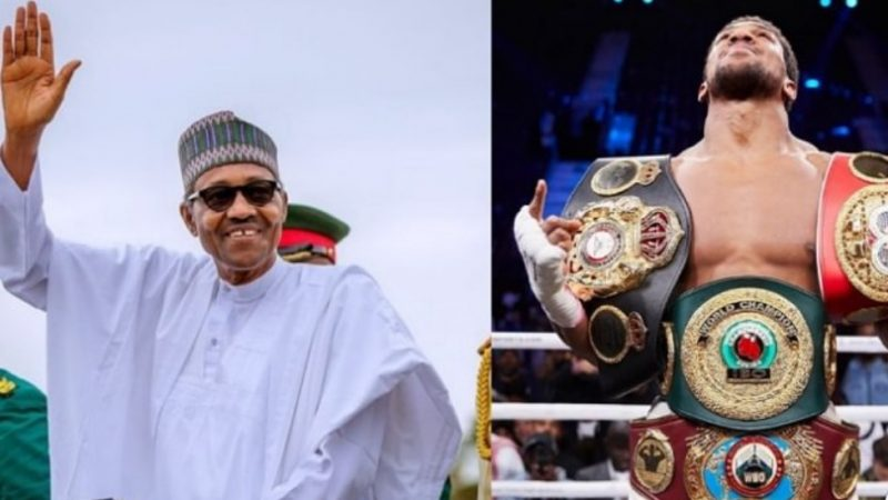 """You have brought joy to millions of Nigerians""- President Buhari congratulates Anthony Joshua"