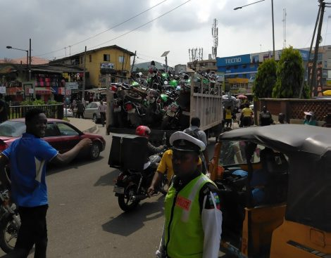 Lagos Impounds Trucks Of 'Opay' Motorcycles