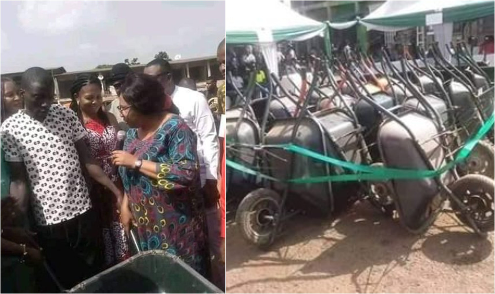 Enugu LGA Chairman allegedly gives out wheel barrows on hire purchase in poverty alleviation project (photos)