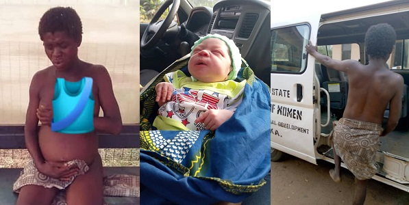 Mentally challenged woman gives birth to a baby boy in Anambra (photos)