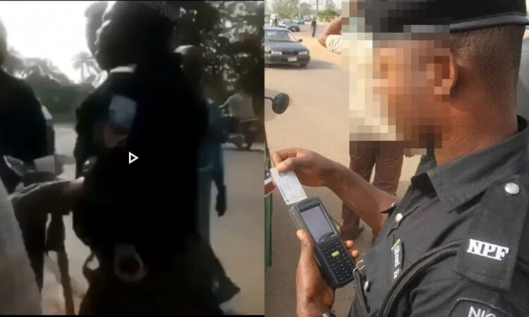 Nigerian Police reacts to video of policeman spotted with a POS while asking a young man for his ATM card