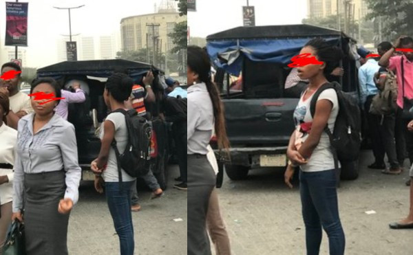 Police van allegedly used as commercial vehicle in Lagos