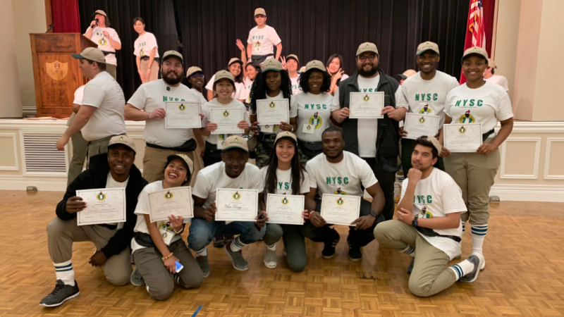 Nigerians schooling in University of Arkansas re-enact the NYSC experience so that foreign students can have the experience (photos)