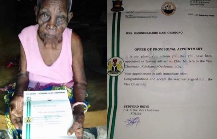 100+year-old woman appointed as Special Adviser in Bayelsa (photos)