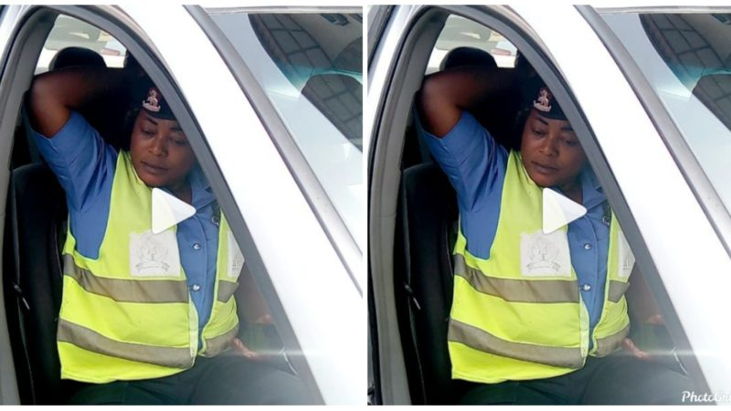 Nigerian lady narrates how a police woman allegedly harassed and tried extorting her while on her way to work (videos)