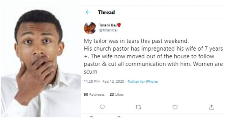 Man left heartbroken as pastor gets his wife of 7 years pregnant