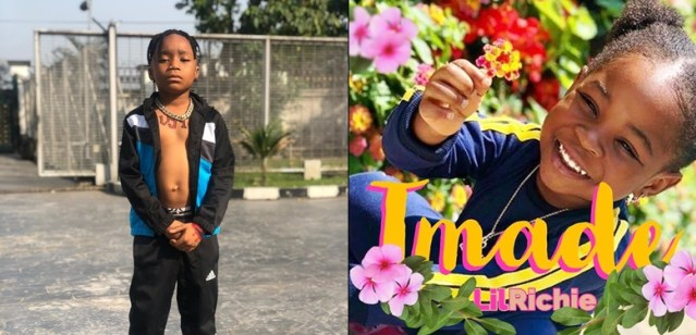 6-year-old upcoming singer professes love for Davido's daughter, Imade Adeleke on Valentine's day
