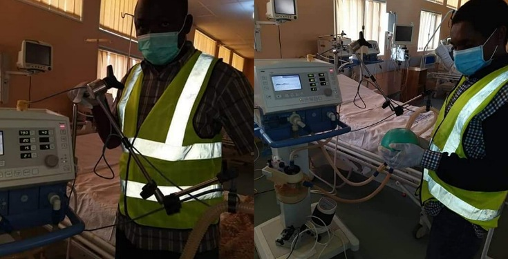 Two Nigerian engineers hailed after fixing faulty ventilators for free as their contribution to curb Coronavirus (Photos)