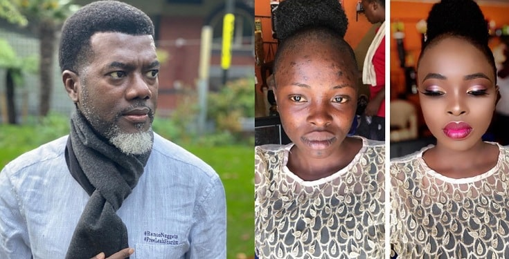 """Never marry anyone you haven't seen without makeup""- Reno Omokri says as he shares incredible makeup transformation of a woman"